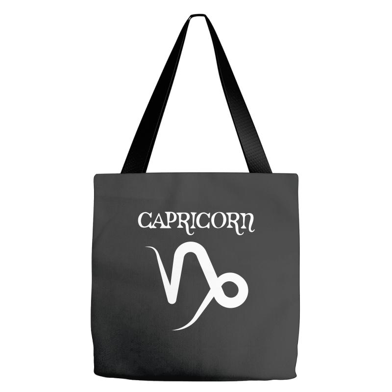 fc3c97982670 Custom Capricorn Symbol For Dark Tote Bags By Sengul - Artistshot