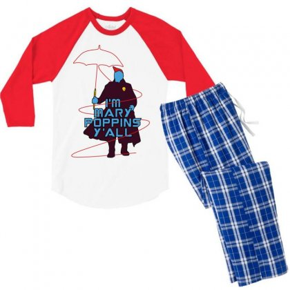 I'm Mary Poppins Y'all Men's 3/4 Sleeve Pajama Set Designed By Vr46