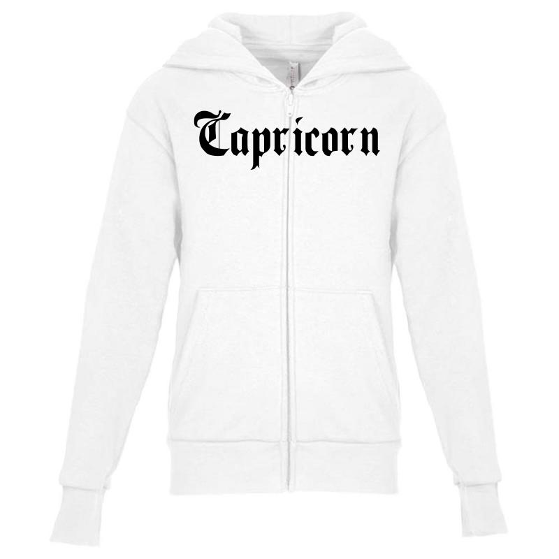 405559f992c1 Custom Capricorn For Light Youth Zipper Hoodie By Sengul - Artistshot