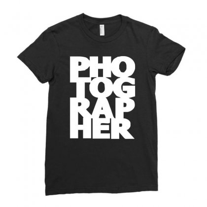 Gift For Photographer Ladies Fitted T-shirt Designed By Mdk Art