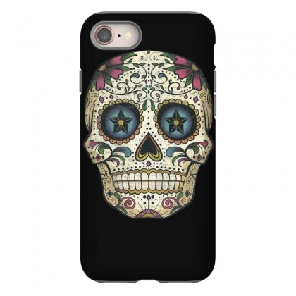Men's Pura Vida Sugar Skull Iphone 8 Case Designed By Mdk Art