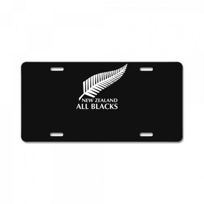 New Zealand All Blacks Rugby License Plate Designed By Mdk Art