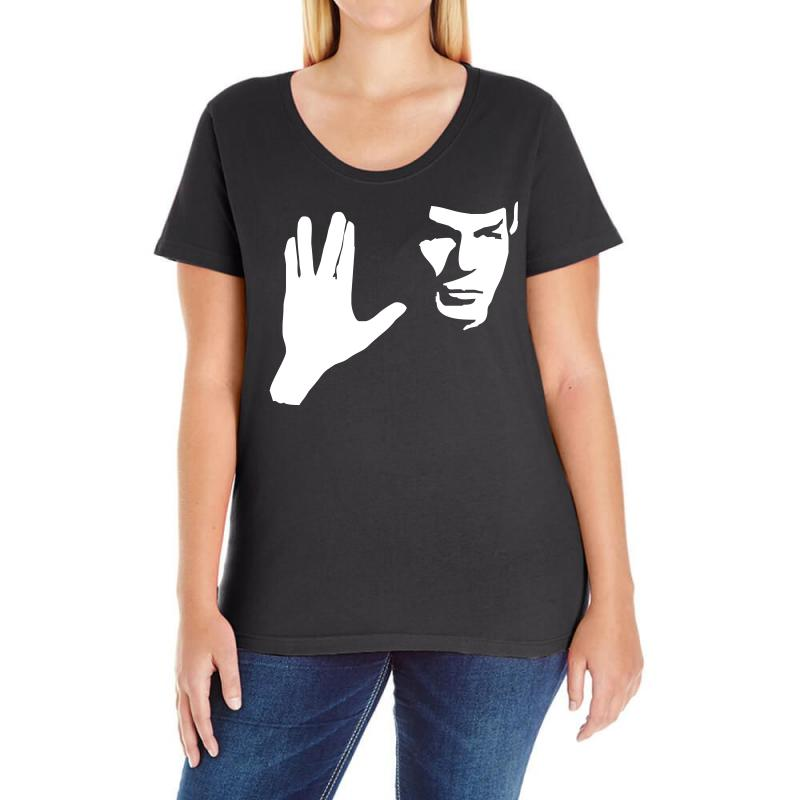 Spock Star Trek Leonard Nimoy Tribute Ladies Curvy T-shirt | Artistshot
