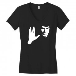 spock star trek leonard nimoy tribute Women's V-Neck T-Shirt | Artistshot