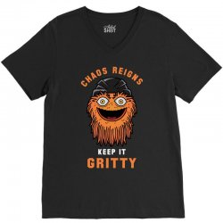 chaos reigns keep it gritty V-Neck Tee | Artistshot