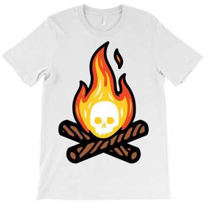 Skullfire T-shirt Designed By Quilimo