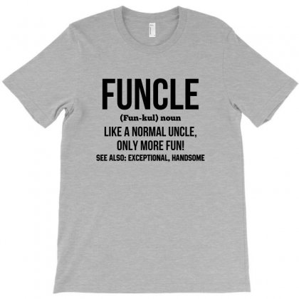 Funcle Black Print T-shirt Designed By Tshiart