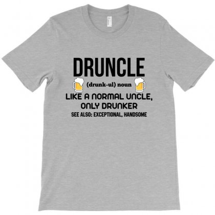 Druncle Black T-shirt Designed By Tshiart