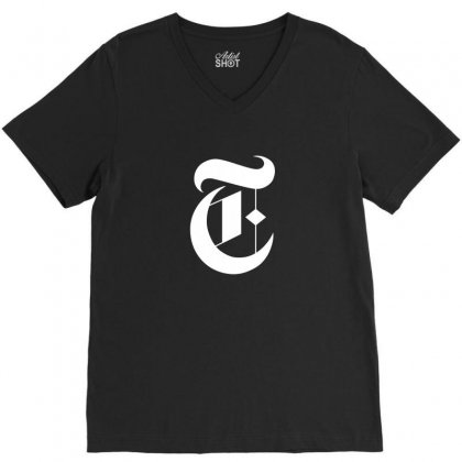 New York Times V-neck Tee Designed By Defit89
