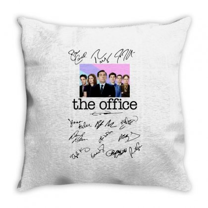 The Office Signed Script Throw Pillow Designed By Sengul