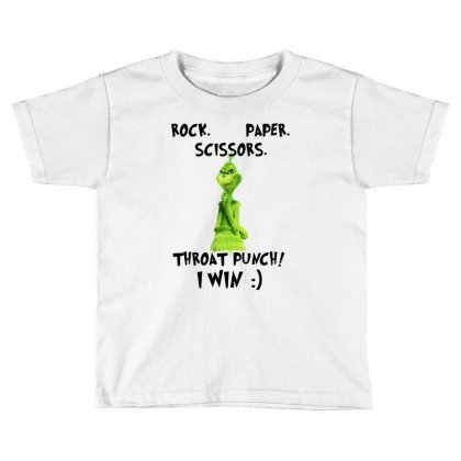 Rock Paper Scissors Throat Punch I Win For Light Toddler T-shirt Designed By Toweroflandrose