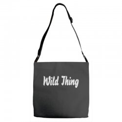 wild thing Adjustable Strap Totes | Artistshot