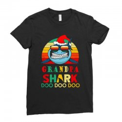 christmas granpa sharks-retro vintage Ladies Fitted T-Shirt | Artistshot