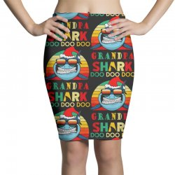 christmas granpa sharks-retro vintage Pencil Skirts | Artistshot