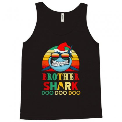 Christmas Brother Sharks-retro Vintage Tank Top Designed By Blqs Apparel
