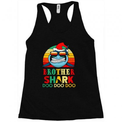 Christmas Brother Sharks-retro Vintage Racerback Tank Designed By Blqs Apparel