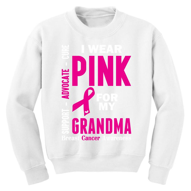 Long Sleeve Men I Wear Pink For My Grandma Shirt Ribbon Breast Cancer Awareness