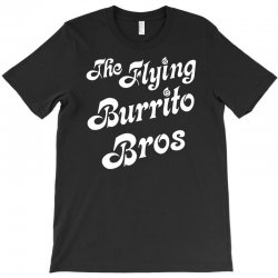 The Flying Burrito Brothers Mens Attractive T-Shirts Art Pattern Short Sleeve Tee Black