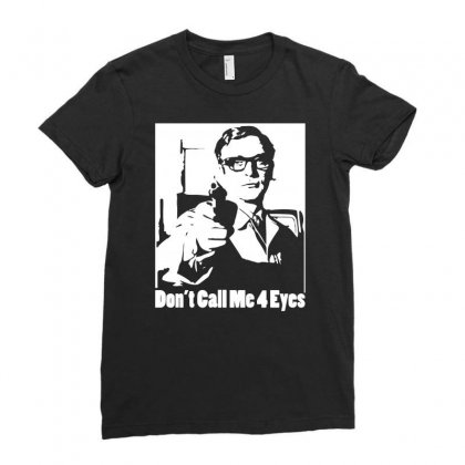 Harry Palmer Don't Call Me Four Eyes Ladies Fitted T-shirt Designed By Mdk Art