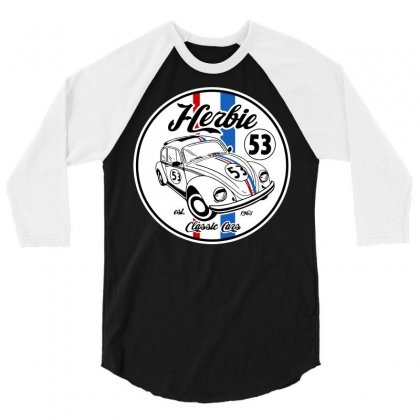 Classic Cars 3/4 Sleeve Shirt Designed By Tee Shop