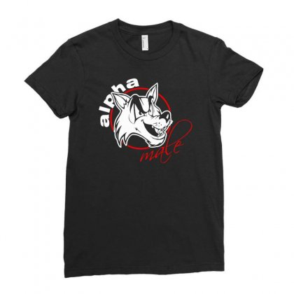 Alpha Male Ladies Fitted T-shirt Designed By Mdk Art
