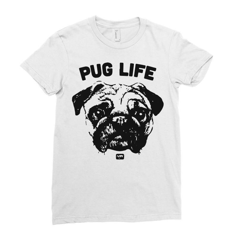 Comedy Funny Hot Pug Life 2018 Ladies Fitted T-shirt | Artistshot