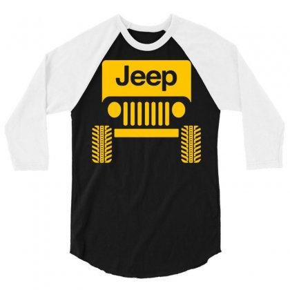 Cool Jeep 3/4 Sleeve Shirt Designed By Tee Shop
