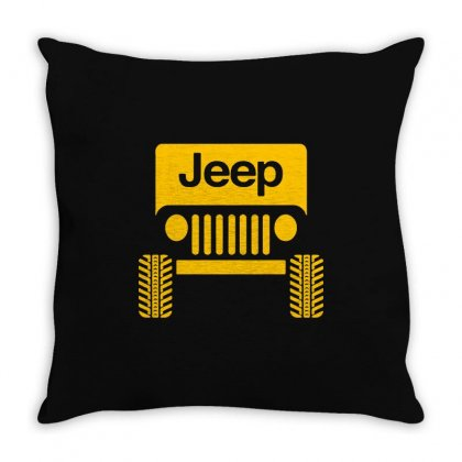 Cool Jeep Throw Pillow Designed By Tee Shop