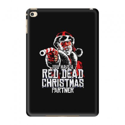 Red Dead Xmas Ipad Mini 4 Case Designed By Blqs Apparel