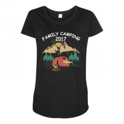 Family Camping 2019 Funny Camp Group Gift T Shirt Maternity Scoop Neck T-shirt | Artistshot