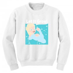 funny gym elsa let it grow frozen fitness Youth Sweatshirt | Artistshot