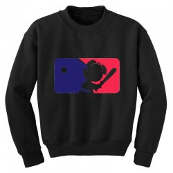 Peanuts League Baseball Youth Sweatshirt | Artistshot