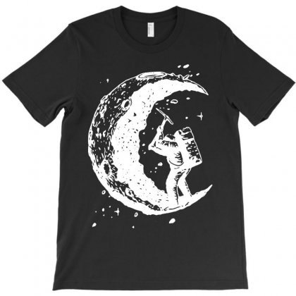 Digging The Moon Funny T-shirt Designed By Tee Shop