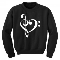 music heart rock baseball Youth Sweatshirt | Artistshot