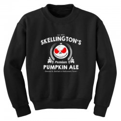 Skellington'spumpkin ale Youth Sweatshirt | Artistshot
