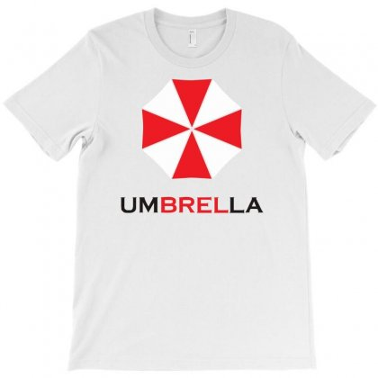 Resident Evil Logo Umbrella Corporation Zombie Videogames T-shirt Designed By Mdk Art