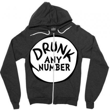 Drunk Any Number St Patrick Day Funny Drunk Beer Pong Any Number Zipper Hoodie Designed By Tee Shop