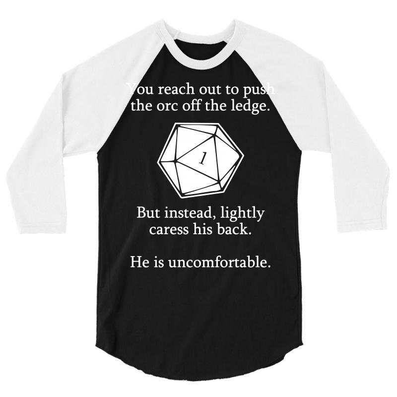 d3ca8f46 Custom Dungeons And Dragons Shirt D20 Roll Funny 3/4 Sleeve Shirt By ...