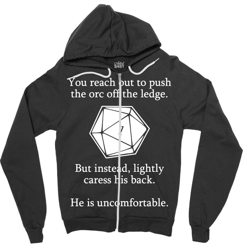 82dc4bca Custom Dungeons And Dragons Shirt D20 Roll Funny Zipper Hoodie By ...