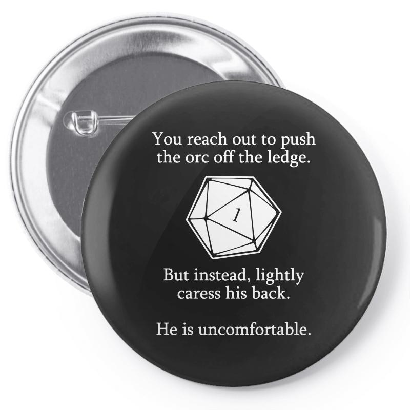 8014cb07 Custom Dungeons And Dragons Shirt D20 Roll Funny Pin-back Button By Tee Shop  - Artistshot