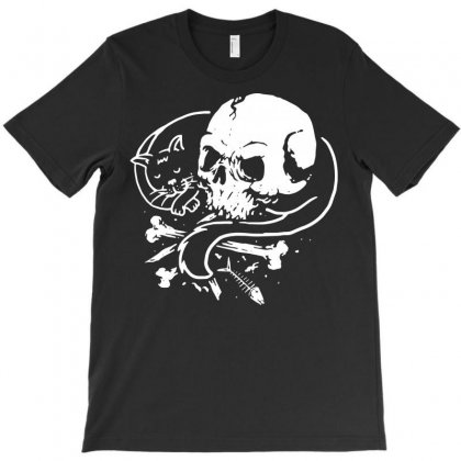 Dark Cat T-shirt Designed By Quilimo