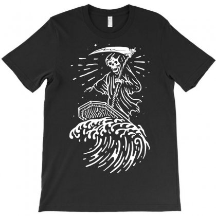 Grim Surfer T-shirt Designed By Quilimo