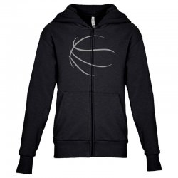 basketball sport bball streetball sportswear usa baskets ball Youth Zipper Hoodie | Artistshot