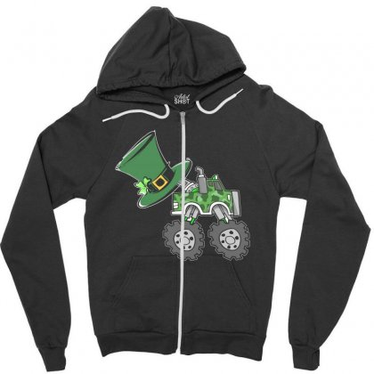Kids St Patricks Day Irish Shamrock Boys Holiday Truck T Shirt Zipper Hoodie Designed By Hung