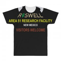 funny alien conspiracy theory roswell area 51 All Over Men's T-shirt | Artistshot