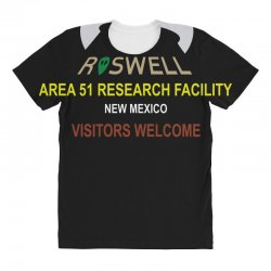 funny alien conspiracy theory roswell area 51 All Over Women's T-shirt | Artistshot