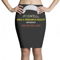 funny alien conspiracy theory roswell area 51 Pencil Skirts | Artistshot