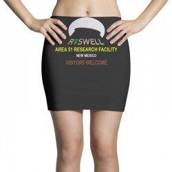 funny alien conspiracy theory roswell area 51 Mini Skirts | Artistshot