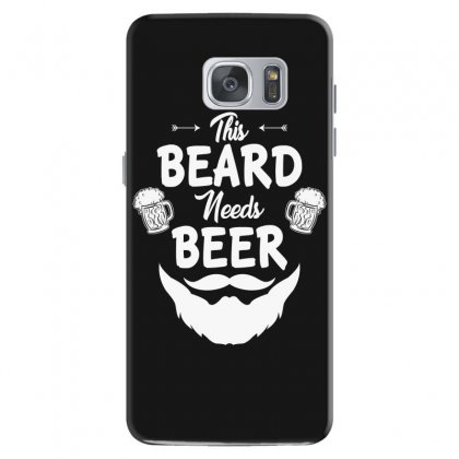 St Patricks Day This Beard Needs Beer T Shirt Samsung Galaxy S7 Case Designed By Hung