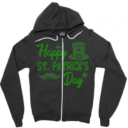 Happy St Patrick S Day   Celebratory T Shirt Zipper Hoodie Designed By Hung